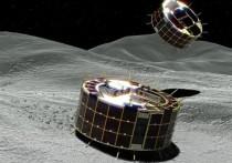 Космический аппарат «Хаябуса-2», созданный в Японии, осуществил сближение с астероидом Рюгу для высадки на его поверхность двух небольших спускаемых модулей