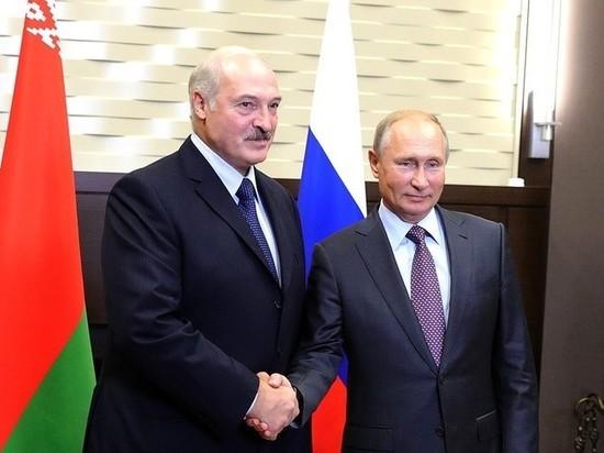Путин назвал встречу с Лукашенко