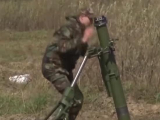 Украинские военнослужащие пострадали при очередном взрыве миномета