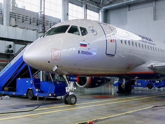 В парк Аэрофлота поступил 50-й российский самолет Superjet 100