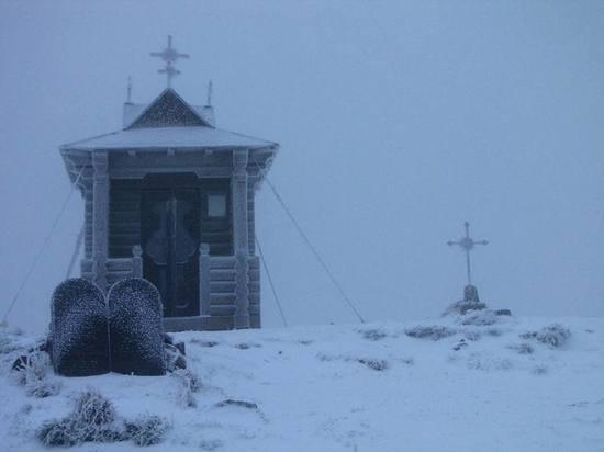 На Украине выпал первый снег
