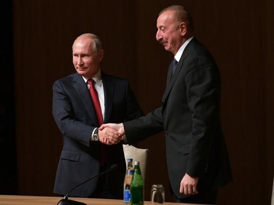 Путин встретился с Алиевым в Баку: Карабах обсуждают «интимно»