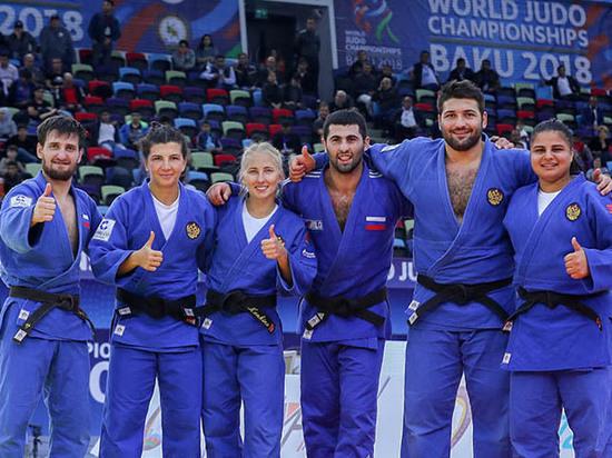 На чемпионате мира в Баку российские дзюдоисты завоевали четыре медали
