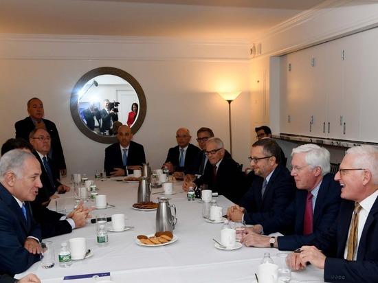 Премьер-министр Биньямин Нетаниягу встретился в Нью-Йорке с руководителями еврейских организаций США