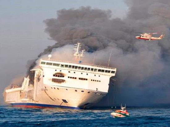 Пожар на пассажирском пароме в Балтийском море вспыхнул после взрыва