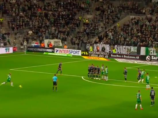 Случай произошел во время матча чемпионата Швеции
