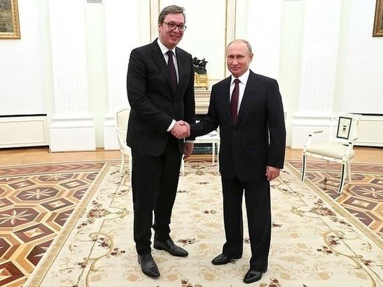Вучич заявил Путину о нежелании Сербии быть частью НАТО