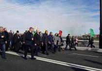 Мэр Омска поделилась впечатлениями от прогулки по Юбилейному мосту