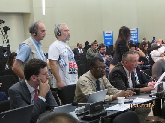 Эколог Евгений Симонов на сессии Комитета Всемирного наследия ЮНЕСКО