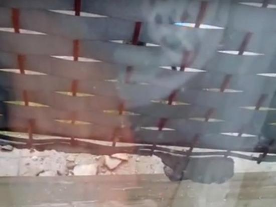 В Калининградской области под компанией обрушился балкон