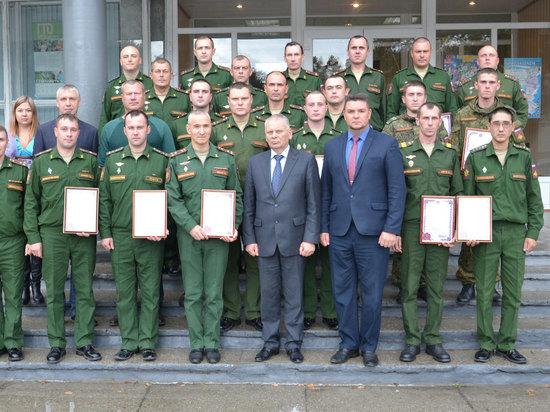 В Брянской области военнослужащим были вручены награды