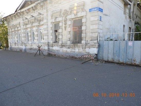Дом культурного наследия в центре Тамбова нуждается в ремонте