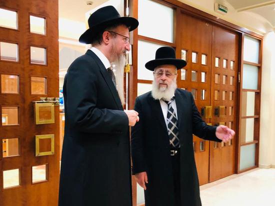 Главный раввин России Берл Лазар встретился с главным раввином Израиля