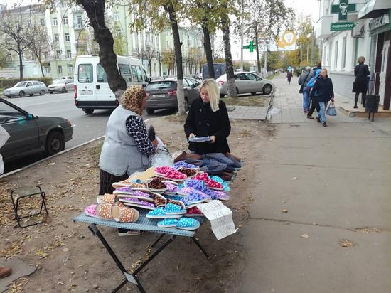 Тапочки вне закона: в Твери наказали уличных торговцев