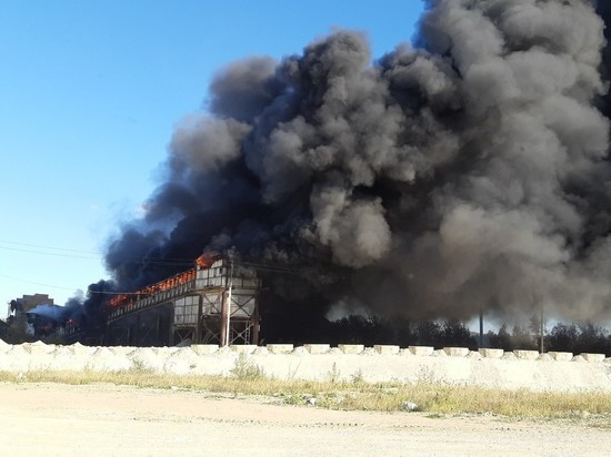 Щебзавод горит под Калугой
