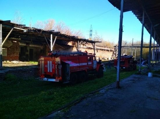 Пожар в заброшенном здании потушили в Туле