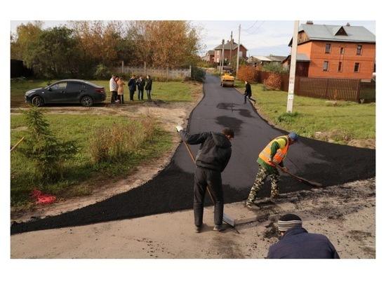 В деревне Борисово отремонтировали участок дороги