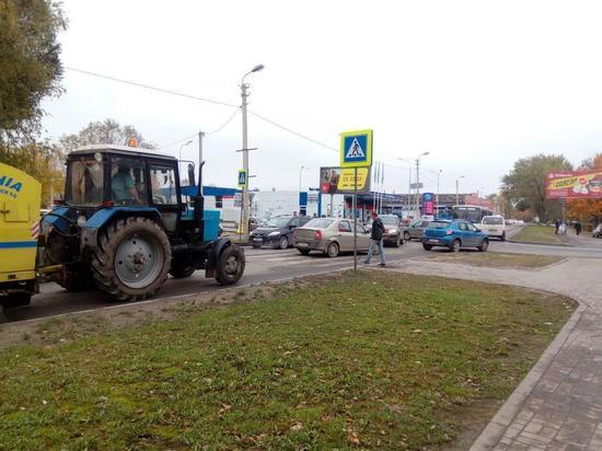 В Пскове на улице Труда образовалась пробка
