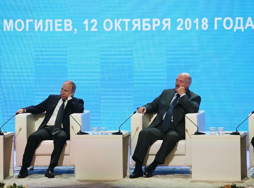 """Путин и Лукашенко встретились в Могилеве: """"Город более русский"""""""