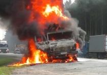 Плохой день для «КамАЗов»: два грузовика сгорели сегодня в Архангельской области