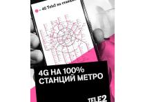 Альтернативный оператор мобильной связи Tele2 построил сетевую инфраструктуру на 100 % станций столичного метрополитена