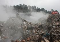 Пожарная техника покидают свалку в Пряже: она потушена