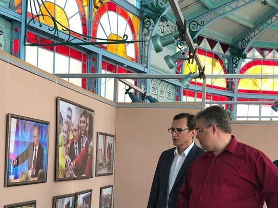 Выставку «Неформальный Путин» в Железноводске посетил губернатор Ставрополья
