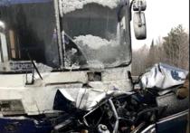 Пассажирский автобус протаранил автомобиль под Анжеро-Судженском