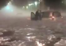 Минувшей ночью в Риме прошёл сильнейший ливень с градом, который привёл к затоплению улиц