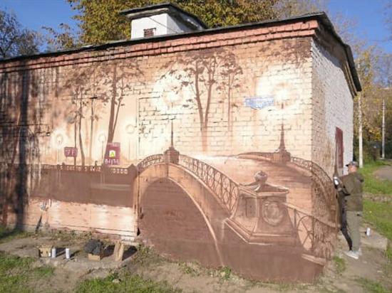 Cквер в Cерпухове оформят граффити в гамме «сепия»