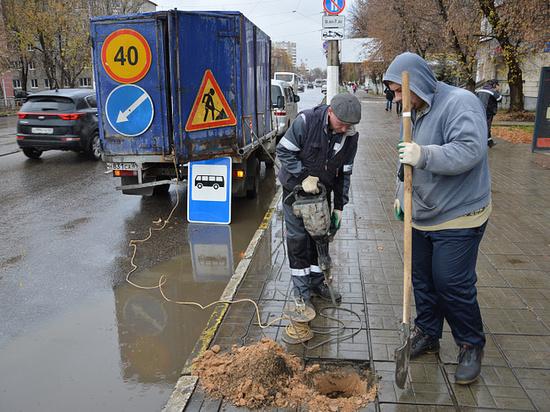 В Заволжском районе Твери разделили остановки трамвая и автобуса