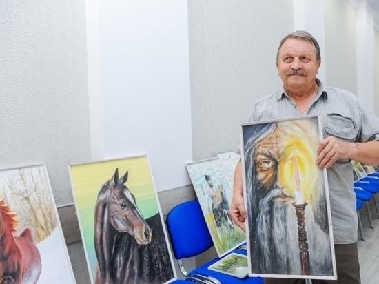 Природа Кумылженского района вдохновила пенсионера на создание картин