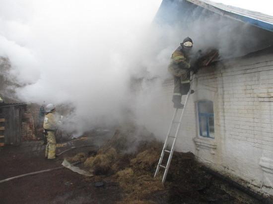 Под Тулой на чердаке жилого дома загорелось сено