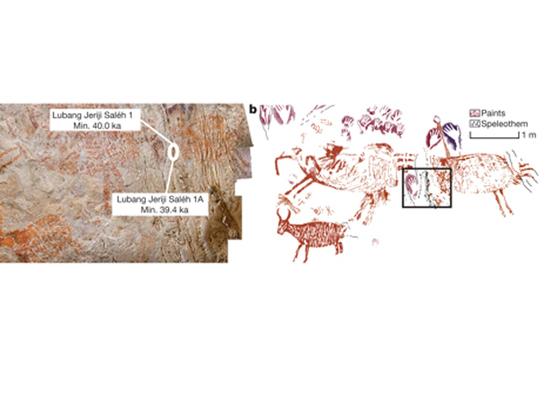 На острове Борнео нашли древнейшее изображение животного