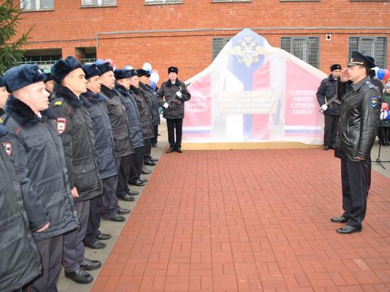 В Тамбовской области открыли памятник полицейским, погибшим при исполнении