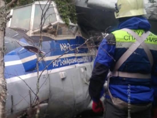 Пассажирский «Ан-2» наделал шума своей жёсткой посадкой в лесу под Архангельском