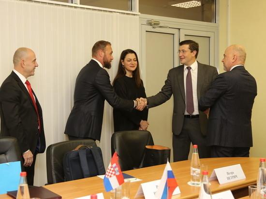 Глеб Никитин встретился с делегацией Хорватии
