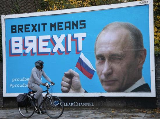 Путин появился на билбордах в Лондоне с благодарностью за «BЯexit»