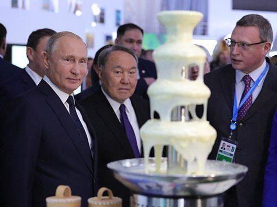Путин, Назарбаев и омская сгущенка – фото