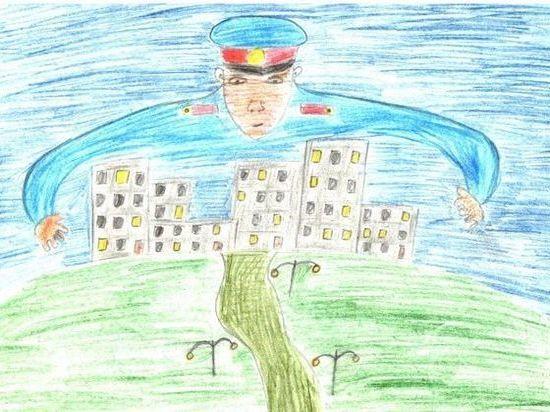 В Бурятии подведены итоги конкурса рисунков «Мои родители работают в полиции»