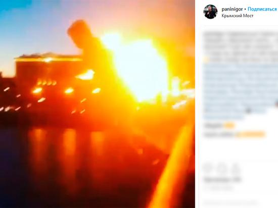 Каскадер раскрыл тайну горящего человека, прыгнувшего с Крымского моста