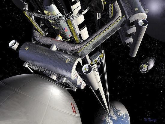 Космический лифт сможет развивать скорость 60 км в секунду