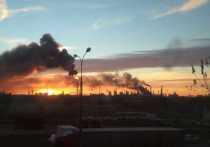 В Москве в субботу в 7:26 произошел пожар на нефтеперерабатывающем заводе в Капотне