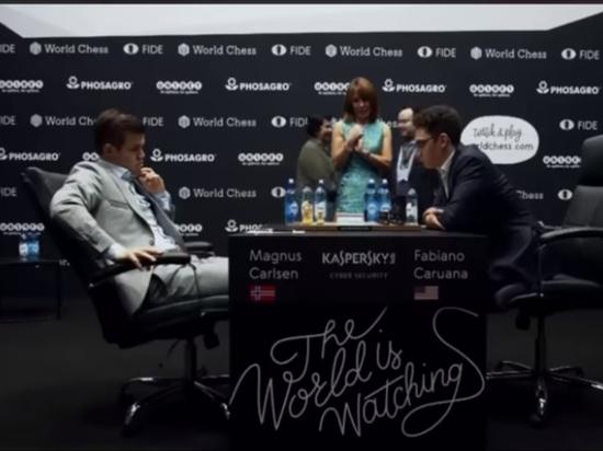 Карлсен и Каруана в шестой раз сыграли вничью в матче за мировую шахматную корону