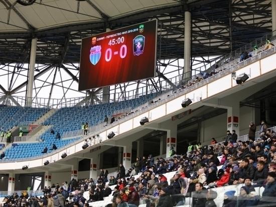 «Ротор» и «Томь» не забили ни одного гола в первом тайме