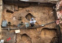На Зарайской стоянке в Московской области археологи обнаружили несколько древних артефактов, включая череп мамонта, внутри которого был спрятан клад