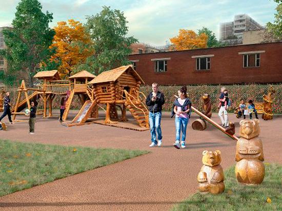 Детский парк на Большой Черкизовской поделят на три зоны