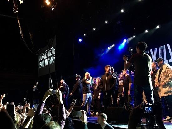 Концерт Басты, Oxxxymiron и Noize MC: рэперы опоздали освободить Хаски