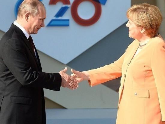 Путин и Меркель стали соседями по отелю и вместе обедают