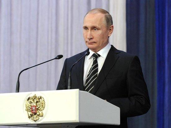 Путин не станет обращаться в этом году с посланием Федеральному собранию
